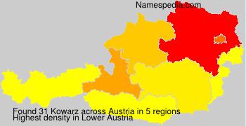 Familiennamen Kowarz - Austria