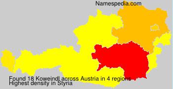 Surname Koweindl in Austria
