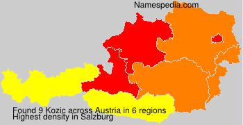 Surname Kozic in Austria