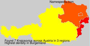 Familiennamen Krajcsovics - Austria