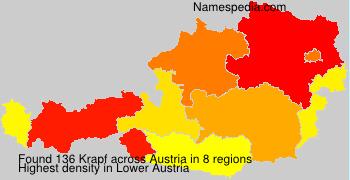 Surname Krapf in Austria