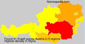 Surname Krapfl in Austria