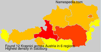 Surname Krasnici in Austria