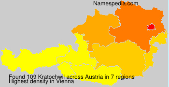 Surname Kratochwil in Austria