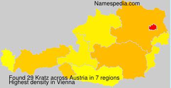Familiennamen Kratz - Austria