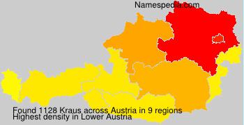 Familiennamen Kraus - Austria