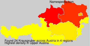 Surname Krausgruber in Austria