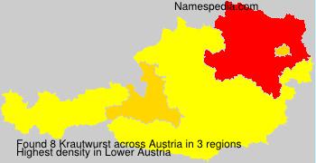 Surname Krautwurst in Austria