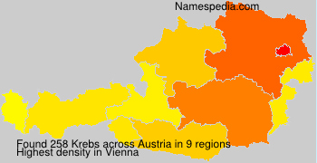 Surname Krebs in Austria