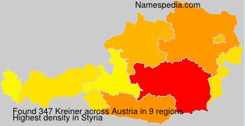 Surname Kreiner in Austria