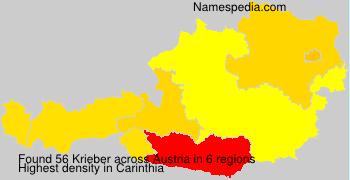Surname Krieber in Austria