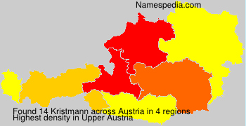 Surname Kristmann in Austria