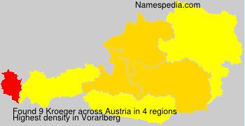 Familiennamen Kroeger - Austria
