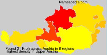 Familiennamen Kroh - Austria