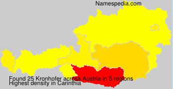 Surname Kronhofer in Austria