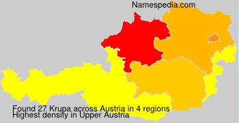 Surname Krupa in Austria