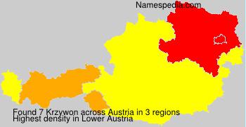 Surname Krzywon in Austria