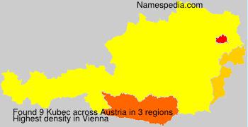 Familiennamen Kubec - Austria