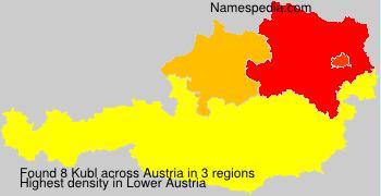 Familiennamen Kubl - Austria