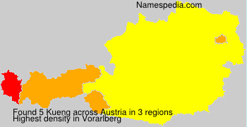 Surname Kueng in Austria