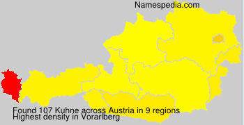 Familiennamen Kuhne - Austria