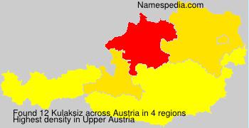 Surname Kulaksiz in Austria
