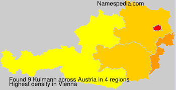 Surname Kulmann in Austria