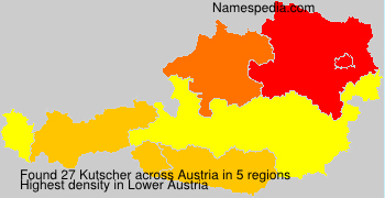 Surname Kutscher in Austria