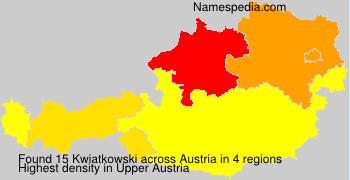 Surname Kwiatkowski in Austria