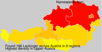 Surname Lackinger in Austria