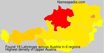 Surname Lahninger in Austria