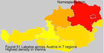 Surname Lakatos in Austria