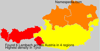 Surname Lambach in Austria