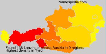 Surname Lanzinger in Austria