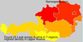 Surname Laub in Austria