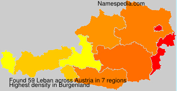 Surname Leban in Austria