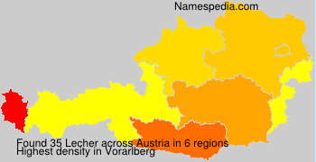 Surname Lecher in Austria