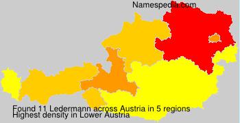 Familiennamen Ledermann - Austria