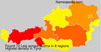 Surname Leis in Austria