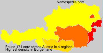 Surname Lentz in Austria