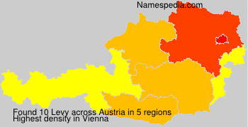 Surname Levy in Austria
