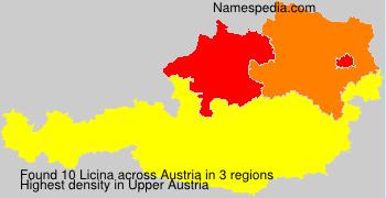 Familiennamen Licina - Austria