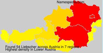 Familiennamen Liebscher - Austria
