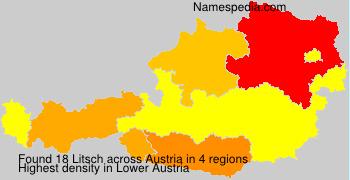 Surname Litsch in Austria
