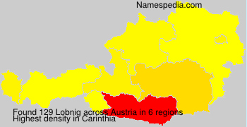 Familiennamen Lobnig - Austria
