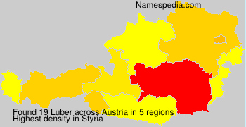 Familiennamen Luber - Austria