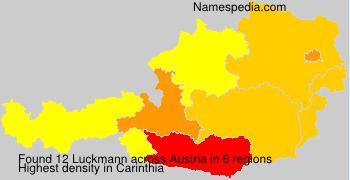 Surname Luckmann in Austria