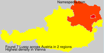 Surname Lussy in Austria