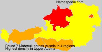 Familiennamen Mabrouk - Austria