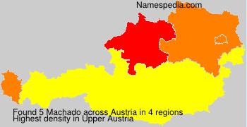 Familiennamen Machado - Austria